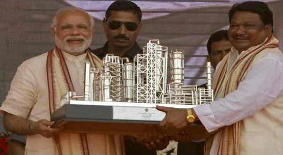 Stone laying ceremony of Indian Oil Corporation