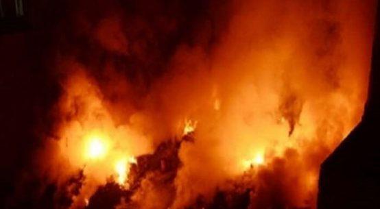 मकान में आग