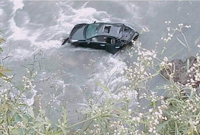 car fell in Beas river